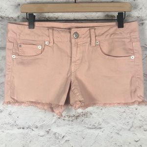 NWOT AEO Frayed Stretch Shorts Sz 8